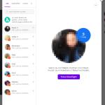 Chatfunktion, links stehen die Kontakte und rechts wird der ausgewählte kontakt angezeigt