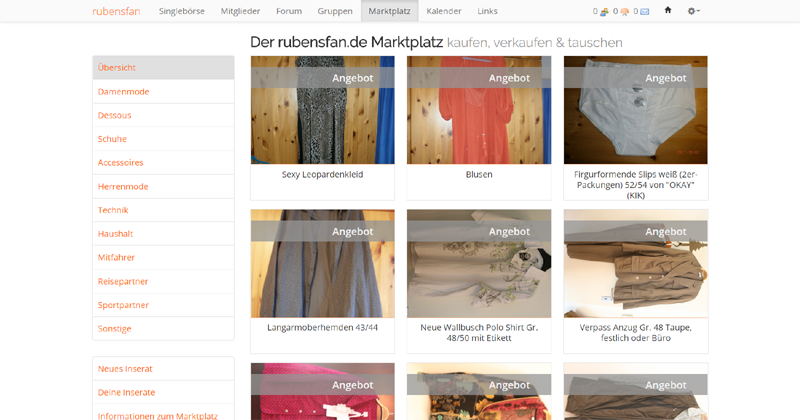 Passende Kleidung finden und verkaufen