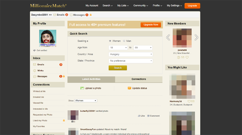 Internationale Millionäre Dating-Websites Online-Dating illegal
