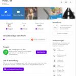 Screenshot einer Profilvorschau in voller Größe
